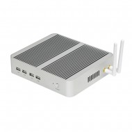 EGLOBAL Fanless Barebone Mini PC Windows 2 Gigabit Lan Mini ITX PC 2 HDMI Compact Computer Core i7 4650U