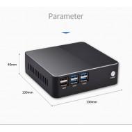 Eglobal Best Fan Mini PC Intel Core i3-7100U DDR3L Max 256G SSD Mini PC DC RJ45 LAN RS232 COM 300M WIFI