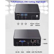 Ultra-silence Fan Mini Desktop PC Micro Computer Windows 10 7th Generation Intel® Core™ i5 Processors i7-7200U HDMI VGA RTC