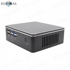 Eglobal Intel i3 4200U Mini Computer Win10 Linux Barebone Portable PC 4K HTPC Copper Fan 6*USB HDMI VGA WiFi