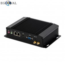 Eglobal Fanless Industrial Mini PC Windows Pfsense Router  J1900 Qaud Core  2 Intel LAN 2 COM VGA + HDMI 3G / 4G Watchdog 300m Wi-Fi