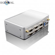 EGLOBAL Ultra Slience Fanless Industrial Mini PC Celeron J1900 Windows Linux Mini PC 2RJ45 Intel Lan 6RS232 / 485 HDMI VGA 8USB Wi-Fi watch 3g / 4G