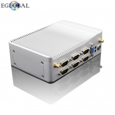 EGLOBAL Ultra Slience Fanless Industrial Mini PC Celeron J1900 Windows Linux Mini PC 2RJ45 Intel Lan 6RS232 / 485 HDMI VGA 8USB Wi-Fi watch 3g / 4G
