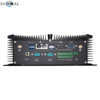Industrial Fanless Mini PC i5 8250U 4 Cores 2 DDR4 2 COM Windows 10 Pro Linux Mini Milling Machine Desktop Computer VGA HDMI USB Wi-Fi