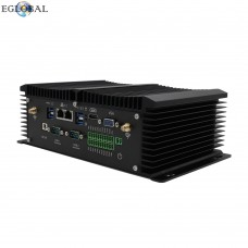 EGLOBAL Fanless Industrial Mini PC i7 7500U Windows 10 Pro Linux PC 2 * Intel Lan 2 * RS232 / 485 COM HDMI VGA 8 * USB Wi-Fi Watchdog 3G / 4G