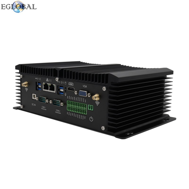 Eglobal fanless industrial mini pc windows pfsense router j1900.