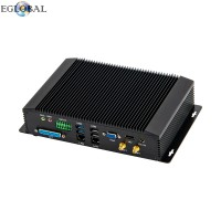Newest Core i7 4650U Industrial Fanless Mirco Desktop Computer SIM 4G Module RS232/RS422/RS485 COM Win 10 Pro Noiseless Mini PC