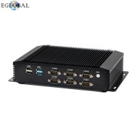 Eglobal Fanless Mini PC Intel Core i5 Micro Computer LPT GPIO LVDS 6 COM 8 USB AC WIFI HD VGA Industrial Mini Computer