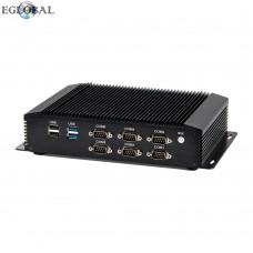 Eglobal Fanless Mini PC Intel Core i5 Micro Computer LPT GPIO LVDS 6 COM 8 USB AC WIFI HD VGA Industrial Mini Computer
