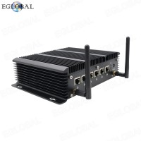 Eglobal Fanless 6LAN ports Industrial Mini PC stable performance Firewall Pfsense Router 2*RS232 COM HDMI 4G/3G WiFi with SIM slot