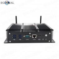 Eglobal Mini Computer Wifi Router Intel Core i3 7167U Pfsense Firewall Network Server Winows Mini PC 6*Lan 1*RJ45 COM