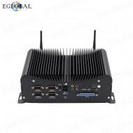 2020 EGLOBAL new Industrial Fanless Computer Core Intel i5 6360U DDR4 best Mini PC with 6COM Ports GPIO LPT 2*RJ45 lan