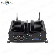 2020 EGLOBAL new Industrial Fanless Computer Core Intel i7 8559U DDR4 best Mini PC with 6COM Ports GPIO LPT 2*RJ45 lan