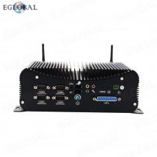 2021 Cheap Industrial Fanless Mini PC Intel i5-10210U Rugged Computer 6*COM 2*Lans 8*USB GPIO LPT PS/2 HDMI VGA 4G WiFi