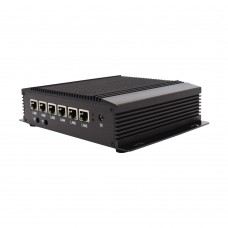 Eglobal Fanless 6LAN ports Industrial Mini PC Intel Core i3 6157U Stable Performance Firewall Pfense Router 2*RS232 HDMI 4G/3G WiFi with SIM slot