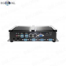 Cheapest Industrial Mini Computer 1007U 4 RS232 COM 2 Gigabit Lan WIFI VGA HDMI Barebone System Max 8GB DDR3 Fanless Mini PC