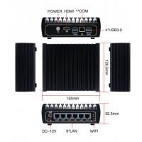 6 Intel LAN Fanless Pfsense Mini PC Intel Core i5 7200U DDR4 Ram AES-NI Linux Firewall Pfsense Router Network Server