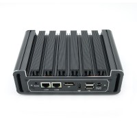 Eglobal Fanless 4k Mini PC Pfsense Computer Intel Core i5 6200U DDR4 Ram Dual NIC Dual COM AES-NI DP HDMI 4G WIFI Supported