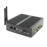 DHL Free shipping Cheapest Fanless Minipc TV Box with VGA HDMI 2Nics Small Computers Pfsense Linux Mini PC