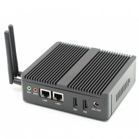 Fanless Rugged Box EGLOBAL Mini PC Windows10 Linux With HDMI RJ-45LAN Compact Mini PC