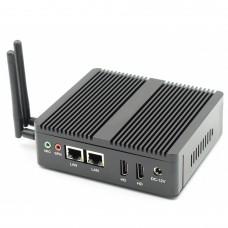 Portable Fanless Mini Computer Intel Celeron Desktop J3160 Dual Lan 1 COM DDR3 8GB Noiseless Mini PC