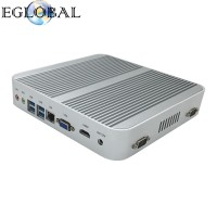 Broadwell CPU  Win10 Mini pc Barebone Intel Nuc Fanless Computador Core i3 5005U Graphics HD 5500 4K HD HTPC