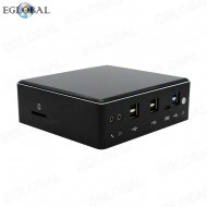 Game Mini PC i7-8550U Quad Core 8 Threads Pocket PC Barebone System Micro Computer 2 RJ45 Gina Lan 4k DP HDMI 1 SD Card