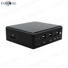 Game Mini PC i7-8550U Quad Core 8 Threads Pocket PC Barebone System Micro Computer 2 RJ45 Gina Lan 4k DP HDMI 1 SD Card
