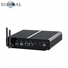 EGLOBAL Mini Computer Fanless Noiseless Mini PC i7-7560U 2  DDR4 Msata  M.2 SSD Micro PC Win10 Pro Audio-video Center NUC VGA HDMI