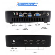 2019 Gaming Mini PC Desktop Level i5 8500 6 Core 6 Threads Win10 Micro Computer NVMe 2*HDMI2.0 DVI DP AC WiFi