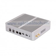 2Nics Small Desktop Computer with Core i5 5200u WIFI 300M Fast Mini Fanless PC
