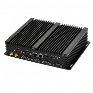 Fanless Mini PC i7 5500U Industrial Computer 24 Hours Working 6 COM HDMI VGA Dual Display 300M Wifi 4K HD HTPC