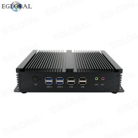 Fanless Mini PC Windows XP/7/8/10 Core i3-5005U Dual Nics 6 RS232 COM Industrial PC Rugged computer 300M Wifi BT HDMI+VGA