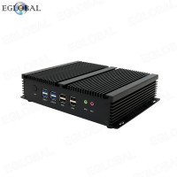 Fanless Rugged Small Desktop Computers 6 COM 4G SIM Card EGLOBAL Industrial Mini PC Windows Linux 2Nics Nuc PC Core i5