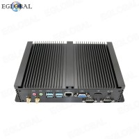 Eglobal Hot Selling Fanless Mini PC intel Core i5-5250U Industrial Rugged Computer With 2 Gigabit Lan 2 RS232 COM HTPC