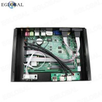 Eglobal Hot Selling Fanless Mini PC intel Core i7-8565U Industrial Rugged Computer With 2 Gigabit Lan 2 RS232 COM HTPC