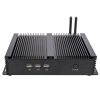 Eglobal Fanless Industrial Mini PC Win10 Core i7-4500U 2*Intel Gigabit Lans 6*RS232 8*USB Micro Computer Linux 3G 4G Wifi 2*HDMI