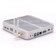 Top Selling Intel Core i5 4200U Fanless 1080P VGA LAN WIFI Barebone Mini PC 4K HD Video Player