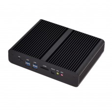 4K HTPC Best Mini PC 2018 Eglobal Barebone Fanless Rugged Box Core i7 2 HDMI 2 LAN SD Card Optical ports Industrial Mini Computer Windows