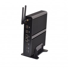 EGLOBAL Fanless Mini Desktop PC Dual Core Four Threads Intel HD Graphics 620 DDR4/DDR3L Barebone System Mini Computer