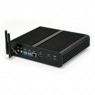 EGLOBAL Barebone Fanless Mini Desktop Computers HDMI DP Small PC Windows 10 UHD 620 Linux Mini PC  i7 8550u